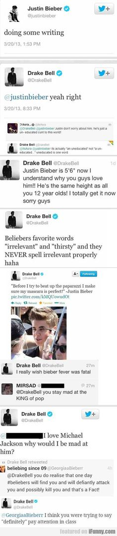 Drake Bell, everyone.....just another reason to love him. Lolll :)