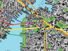 Jenni Sparks Illustration: Hand Drawn Map of New York