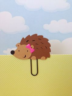 She is so cute!!! Girl Hedgehog Filofax Day Planner Bookmark Clip by KawaiiPaperie, $1.20