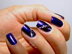 Nail art blue diamondsssss