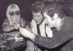 Carte postale JOHNNY HALLYDAY et Sylvie Vartan + Eddy Mitchell 14 Mars 1967