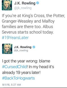 Happy 1st September!! - J.K. Rowling´s tweets today
