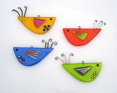 cute birds glass fusing | ... birds and many more lovely glass items from valerie adams glass on