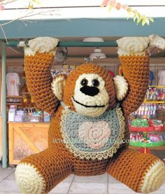 gorilla free crochet pattern by Claris Flowers-Broderick
