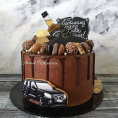 63 Ideas For Birthday Cupcakes Decoration Ideas White Chocolate Birthday Cakes For Men, White Birthday Cakes, New Birthday Cake, Cakes For Boys, Birthday Cupcakes, Jack Daniels Cake, Cake Mix Muffins, Fiesta Cake, 21st Cake