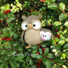 Henriette di gufo con il mouse maglia fatto per di Nowacrochet