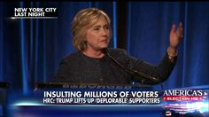 Clinton: Half Of Trump Supporters 'Basket Of Deplorables' — 'Racist, Sexist…You…