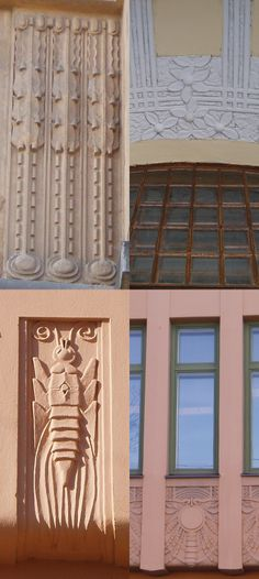 Details on Jugend houses in Vaasa, Finland
