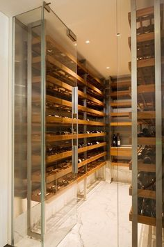 Nothing screams abundance like a wine cellar. Whether your wine cellar is for some serious storag. Wine Cellar Design, Wine Design, Houses Architecture, Home Wine Cellars, Wine Display, In Vino Veritas, Wine Storage, Wine Shelves, Storage Drawers