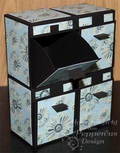 Vorlage für die Spenderbox und andere von peppercus-design: einzeln genau so schön wie als 4er Set!