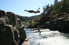 Colliding Rivers, in Glide Oregon.  Oregon,