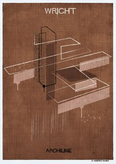 Gallery - Federico Babina's ARCHILINE Paints the Essence of Architecture's Greatest Works - 14