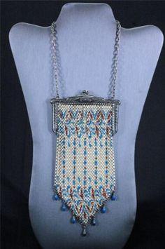 Mandalian-Mesh-Purse-Vintage-Antique-Flapper-Art-Deco-Bag-Handbag
