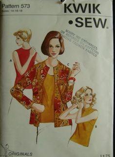 Vintage Kwik Sew No. 573 Ladies' Jacket And top by Elliesstudio, $14.00