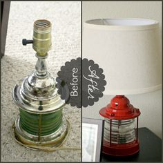 Lamp Makeover {with wiring instructions!}