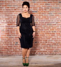 This makes my want to shake my tail feather. Burlesque Plus Size Lace Dress - by Kiyonna