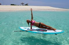 Balance on land or water, brings strength within and out. Always wanted to do yoga on a paddle board