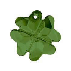 6764 19mm Dark Moss Green Swarovski Elements Crystal Clover Pendant | Fusion Beads