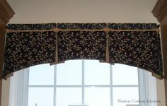 Box-Pleated Valance With Arched Bottom
