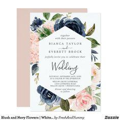 Wedding Invitation Background, Spring Wedding Invitations, Quinceanera Invitations, Watercolor Wedding Invitations, Wedding Invitation Cards, Custom Invitations, Navy Flowers, Flower Lights, Gray Weddings