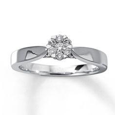 10K White Gold ¼ Carat t.w. Diamond Ring