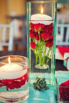 Tiffany Blue and Red Atlanta Wedding at Agnes Scott from Lemiga Events - MODwedding