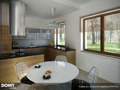 As 2 parterowy prosty dom z czterospadowym dachem - Jesteśmy AUTOREM - DOMY w Stylu Bungalow House Plans, Interior S, Home Projects, House Design, Table, Furniture, Home Decor, Houses, Homes
