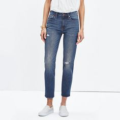 A true cool-girl fit, these straight-leg jeans have the look of a just-right vintage find (as in, they look particularly great from behind). Made of moves-with-you denim with a touch of stretch, this pair is perfectly cropped to flash sandals or sneakers (we love it cuffed a single turn).  <ul><li>Monogramming now available for US customers: To have this item embroidered with up to nine letters (initials, nickname, your hometown) for $10, please call 866 544 1937—FYI, we love red or navy…