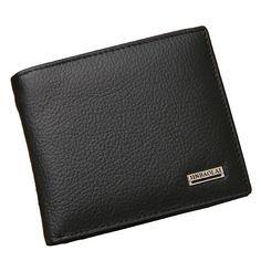 100% echtes leder mens wallet premium produkt echte rindsleder brieftaschen für mann kurze schwarze walet portefeuille homme