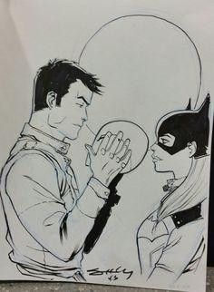 stardustkr7:  Tim Seeley ( timseeleyart) did a sketch of Batgirl and Red Hood