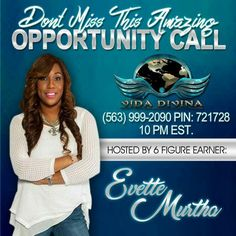 Don't miss this amazing opportunity call