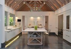 Modern Galley Style White kitchen, white cabinets, $100,000 and over, Pilar Larraz, Miami