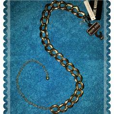 Belt Steve Madden Chain Link Belt, chain is 39 in long, links are approximately 1-1/2 in..Super cute stylin' belt! :) Steve Madden Accessories Belts