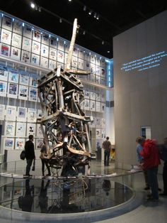 9/11 Memorial section at Washington, DC's Newseum