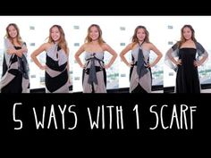 5 Ways to Wear 1 Scarf by Michelle Phan