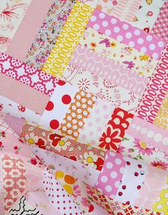 Easy stash buster baby quilt from Red Pepper Quilts