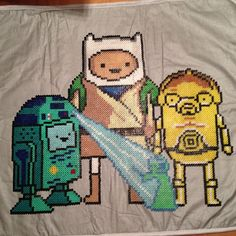 I haven't seen this one before. #Adventure_Time #Star_Wars mashup by brokedown&tumbld