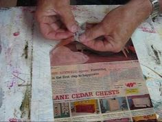 How to create Transparencies from magazine pages using polymer gel medium transfer them onto Textured Joint Compound Paintings - Video Tutorial Mixed Media Techniques, Mixed Media Tutorials, Art Journal Techniques, Textile Manipulation, Decoupage, Foto Transfer, Tips & Tricks, Mixed Media Collage, Art Journal Inspiration