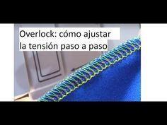 regular el largo y el ancho de puntada de la overlock o remalladora - YouTube