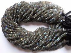 Other Loose Beads 179275: 5 Strand Labradorite Button Rondelle Smooth Gemstone Loose Beads 13Inch 4-5Mm -> BUY IT NOW ONLY: $44.99 on eBay!