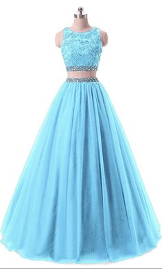 Pieces Lace Sequined Evening Party Gowns Beaded Appliques Formal Prom  Dresses 007b0735143