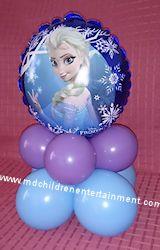 balloon frozen centerpiece - Google Search