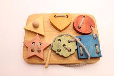 Juguete de madera cordón  7.1 x 51 en  Figuras del cordón