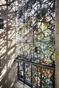 Steel stencils for light: Wintergarden façade, Brisbane, Australia by Studio 505