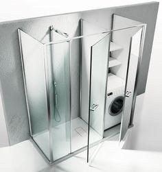 des meubles pour faire dispara tre le lave linge une buanderie dans ma salle de bains. Black Bedroom Furniture Sets. Home Design Ideas