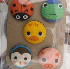 Ladybug/coccinelle buttons.