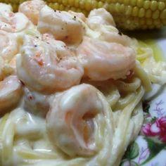 Mmmm Easy Shrimp in Alfredo Sauce Recipe