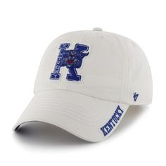 NCAA Kentucky Wildcats Winthrop Fitted Adjustable Cap (White, One-Size) by '47 Brand. $18.99. cotton. Relax fit cap. One-size fits all. Made from 100-Percent cotton twill. Raised cotton embroidery. Garment-washed for a broken-in look. 47 Brand provides the quality all true fans desire in their gear. Known for their vintage look and feel, '47 has managed to also provide a new school spin to this old school craze. Featuring tight, crisp stiching, relaxed fit and adj...