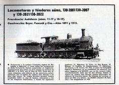 Locomotoras y ténderes 1891  Vía Libre