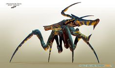 The Warrior Bugs from the film 'Starship Troopers'. Monster Concept Art, Alien Concept Art, Creature Concept Art, Monster Art, Creature Design, Alien Creatures, Fantasy Creatures, Starship Troopers Bugs, Bugs Bunny Drawing